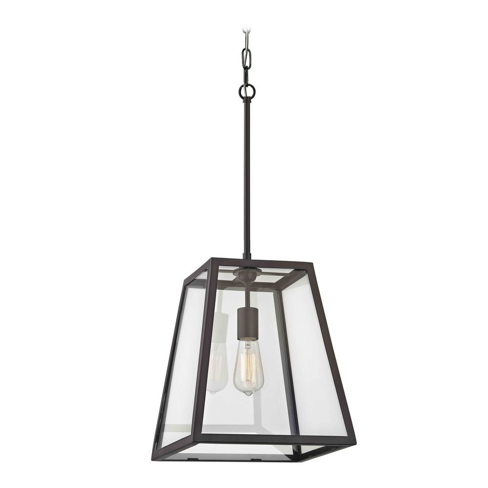 Country Bronze Mini Pendant Light With Square Shade At Destination Lighting
