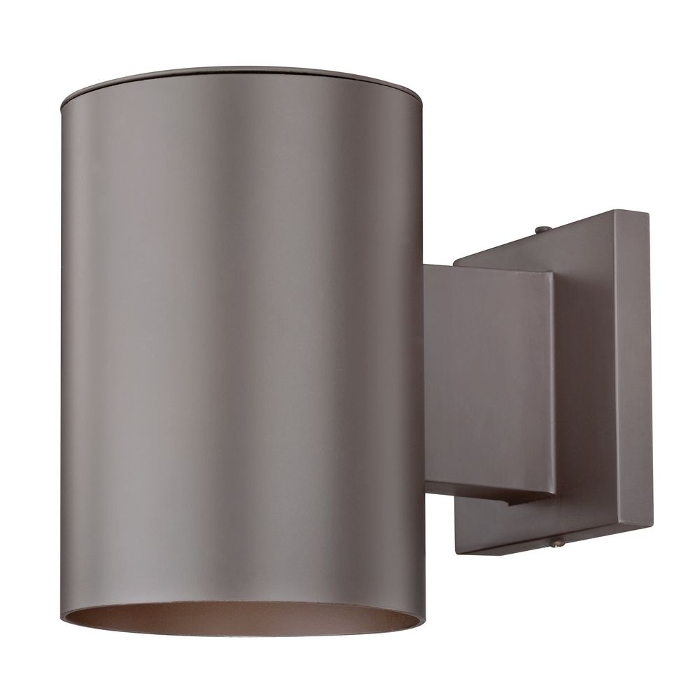 Outdoor Wall Lights Types: Bronze Cylinder Outdoor Wall Down Light