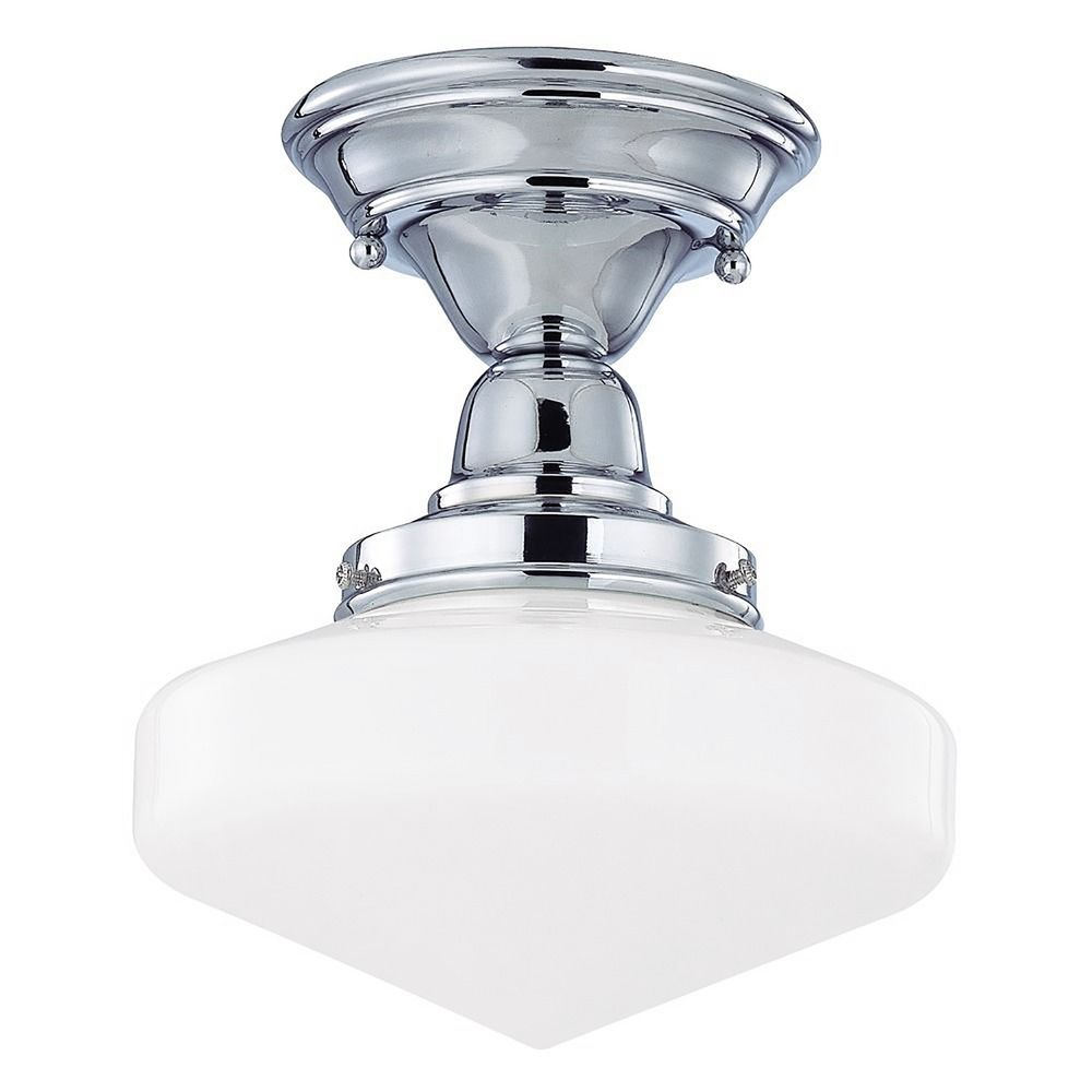 8 Inch Schoolhouse Ceiling Light In Chrome Finish Fbs 26
