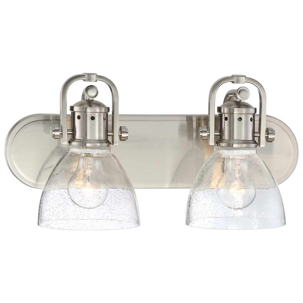 Seeded Glass Bathroom Light Brushed Nickel Minka Lavery 3412 84 Destination Lighting