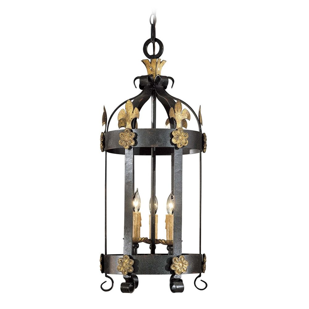 pendant light in french black with gold leaf finish. Black Bedroom Furniture Sets. Home Design Ideas