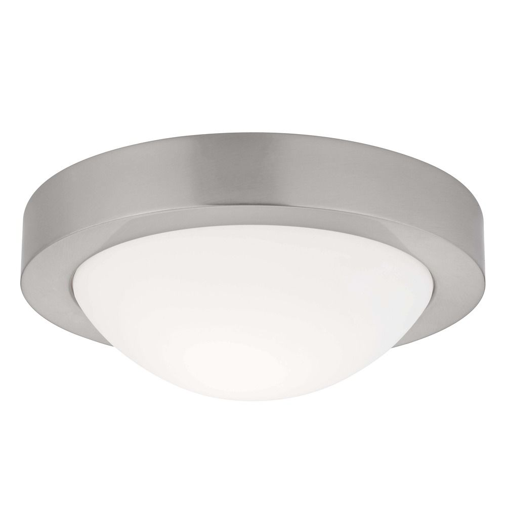 Beautiful Indoor Ceiling Lights #3: Small Contemporary Satin Nickel Ceiling Light -9-1/8-Inches Wide