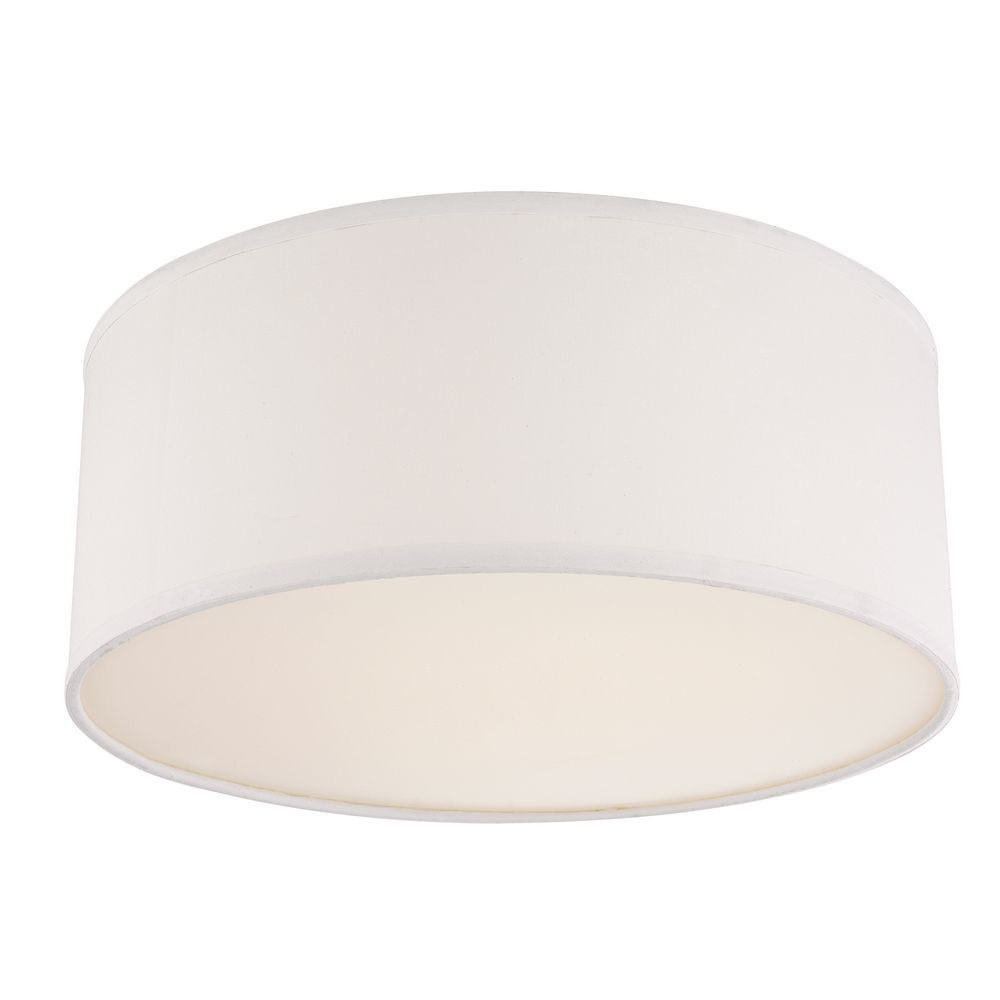 Drum Ceiling Trim For Recessed Lights With White Shade 10662 Hover Or Click To Zoom
