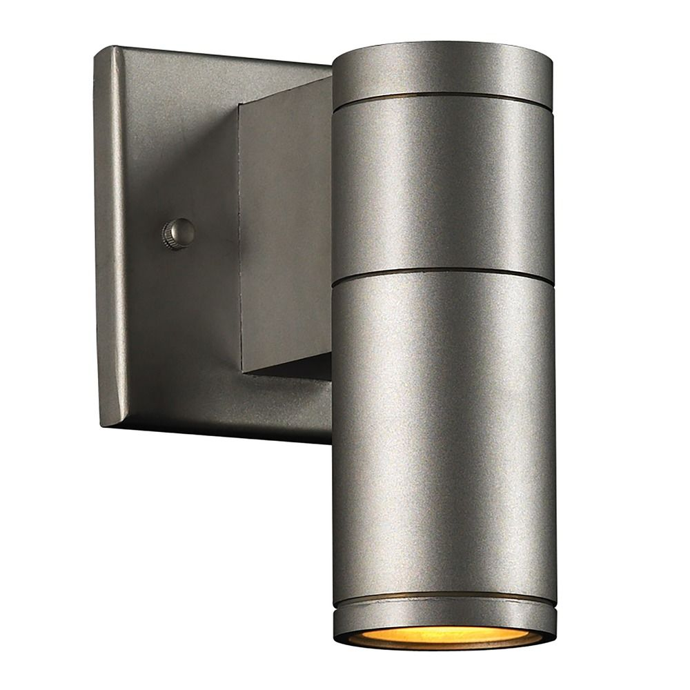 Modern outdoor wall light with clear glass in aluminum finish 8022 al destination lighting for Contemporary exterior wall lights