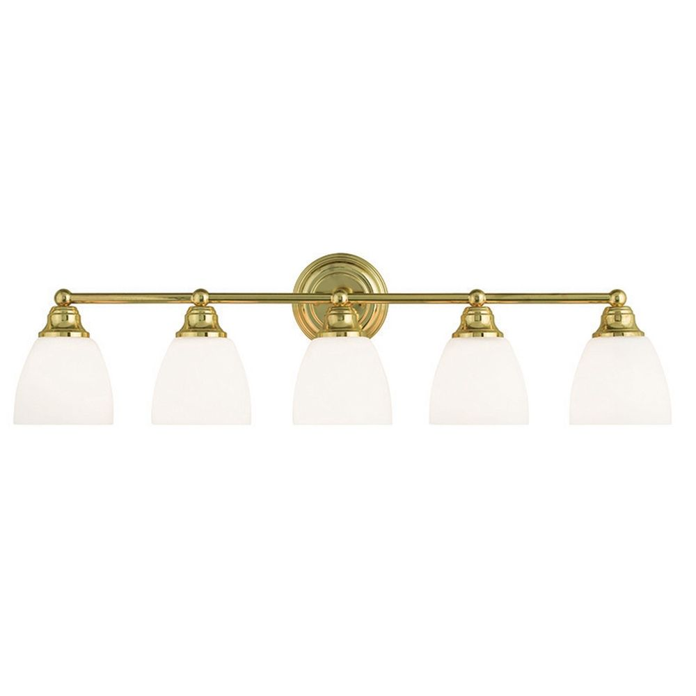 mirror for bathrooms livex lighting somerville polished brass bathroom light 13665