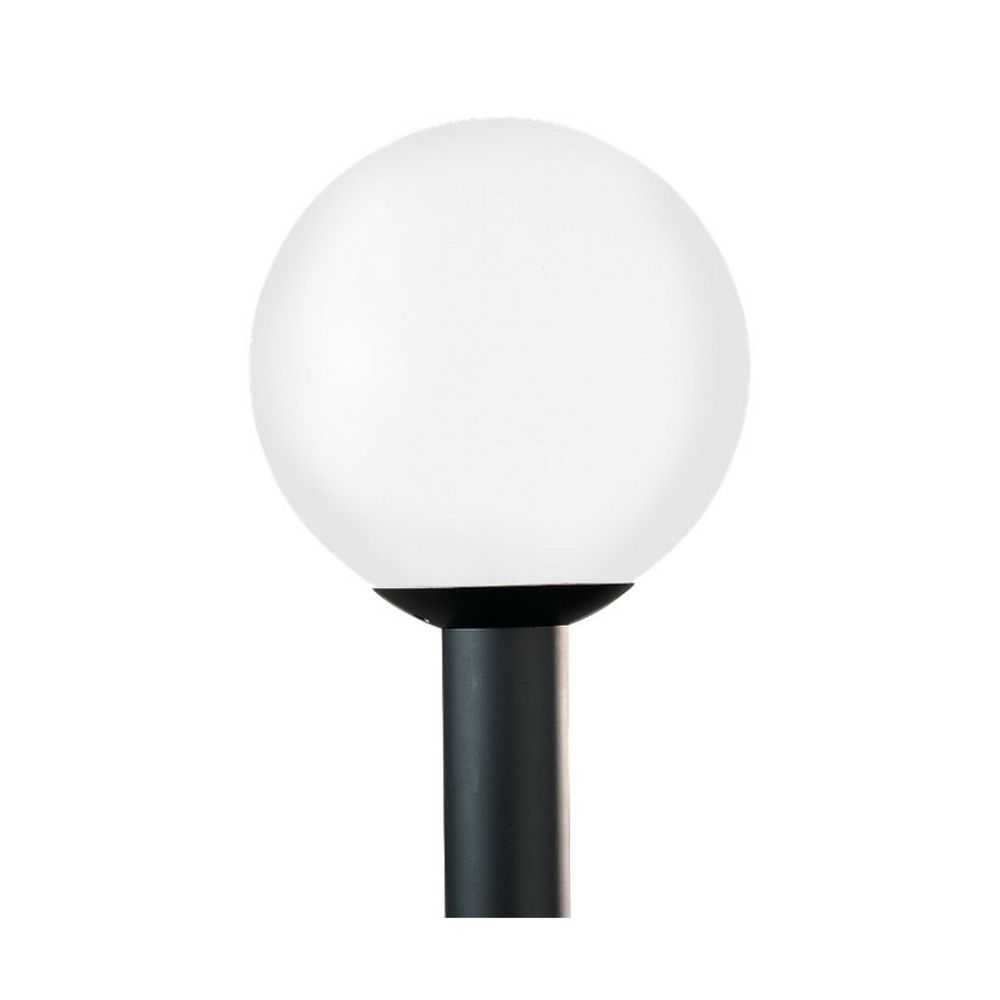 White Globe Post Light 15 Inches Tall 8254 68 Destination Lighting