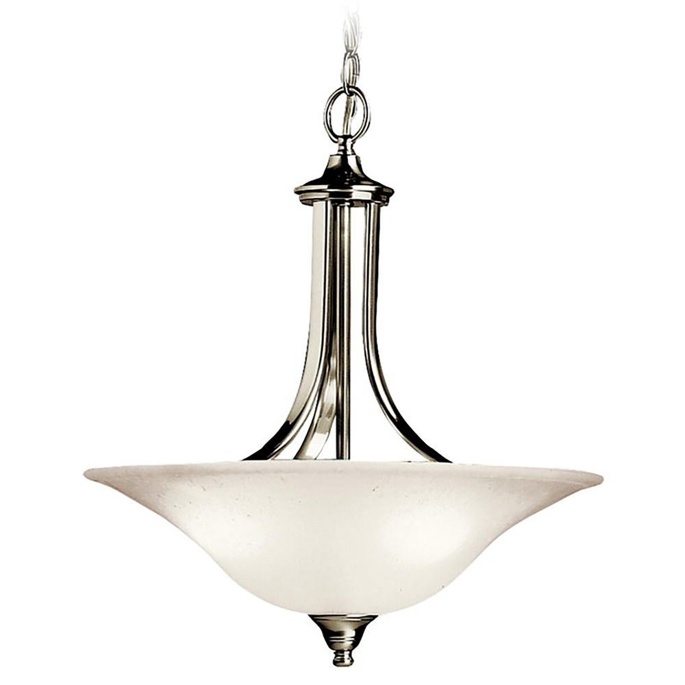 pendant light in brushed nickel finish 3502ni destination lighting