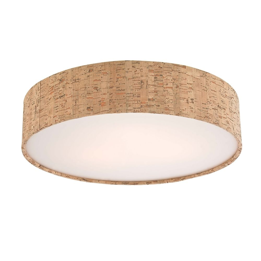Decorative Ceiling Trim For Recessed Lights With Cork Drum Shade At Destination Lighting