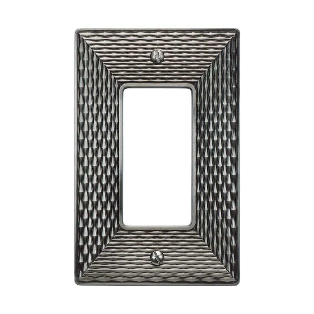 switch plate covers wall plate in brushed nickel finish. Black Bedroom Furniture Sets. Home Design Ideas