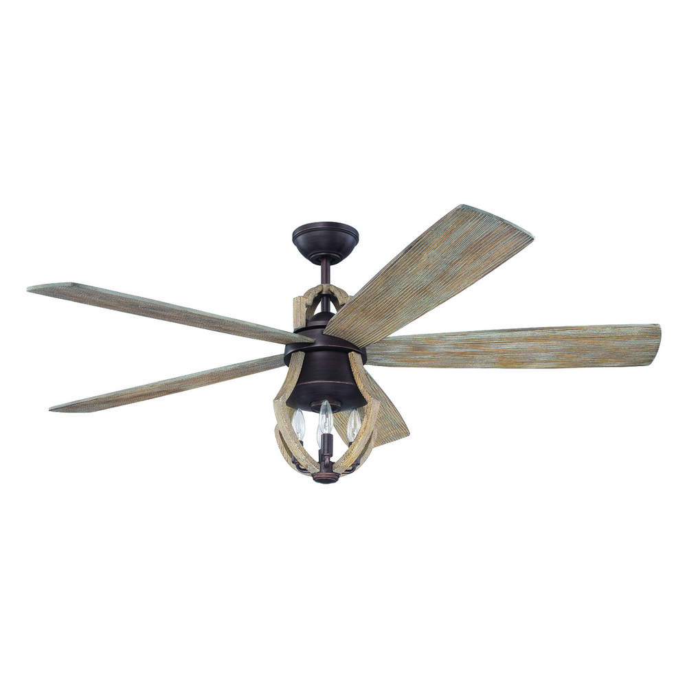 Craftmade Lighting Winton Weathered Pine Ceiling Fan With