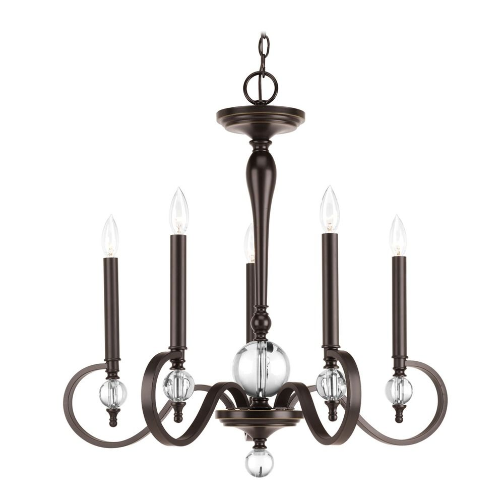 Progress Lighting Esteem Antique Bronze Chandelier