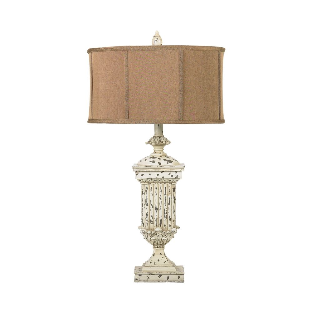 Table lamp with brown shade 93 029 destination lighting for Brown table lamp shades