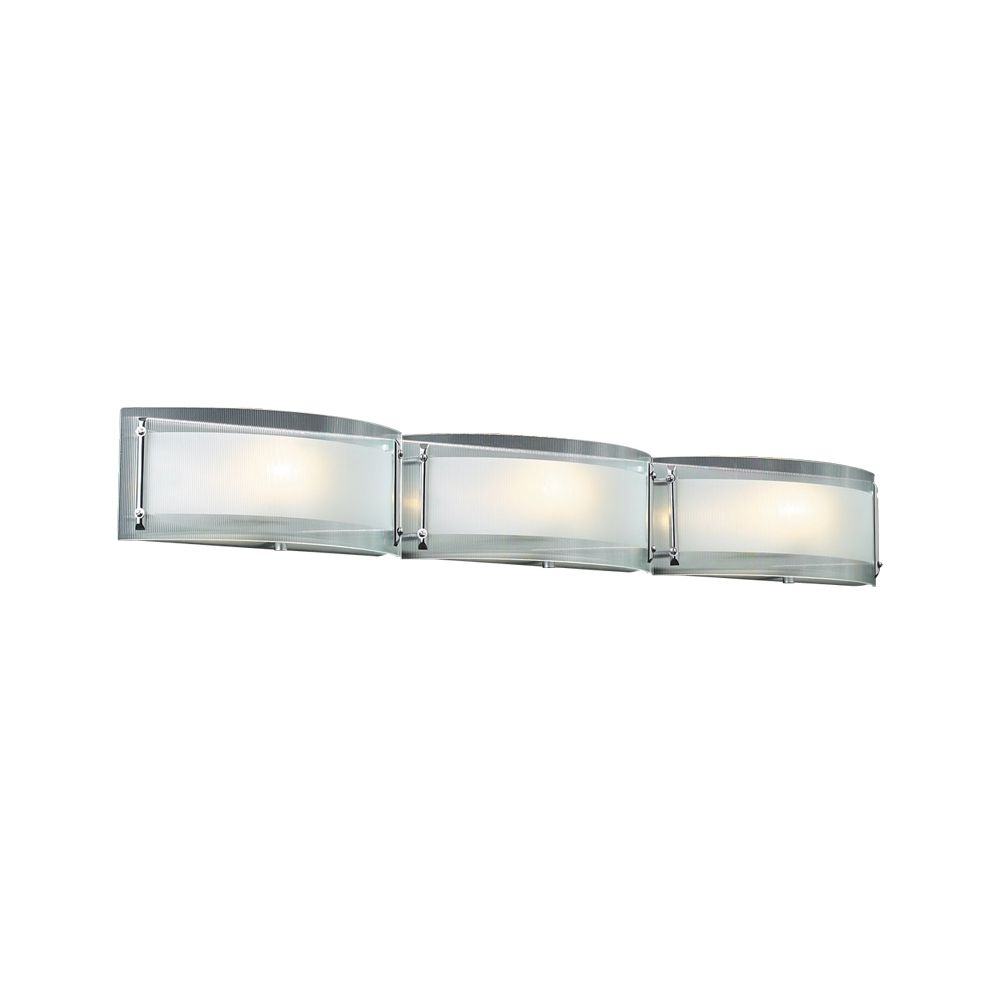 Modern Vanity Lighting Chrome : Modern Bathroom Light with Clear Glass in Polished Chrome Finish 7836 PC Destination Lighting