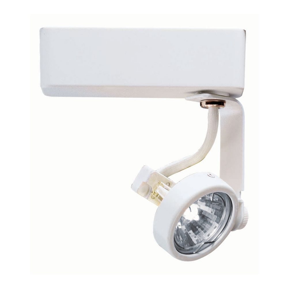 Modern Track Light Head In White Finish R731WH Destination Lighting