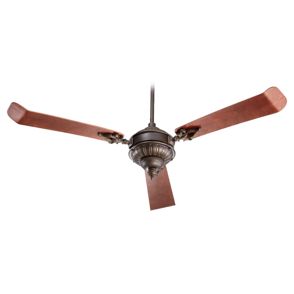 Oiled Bronze Ceiling Lights : Quorum lighting brewster oiled bronze ceiling fan without