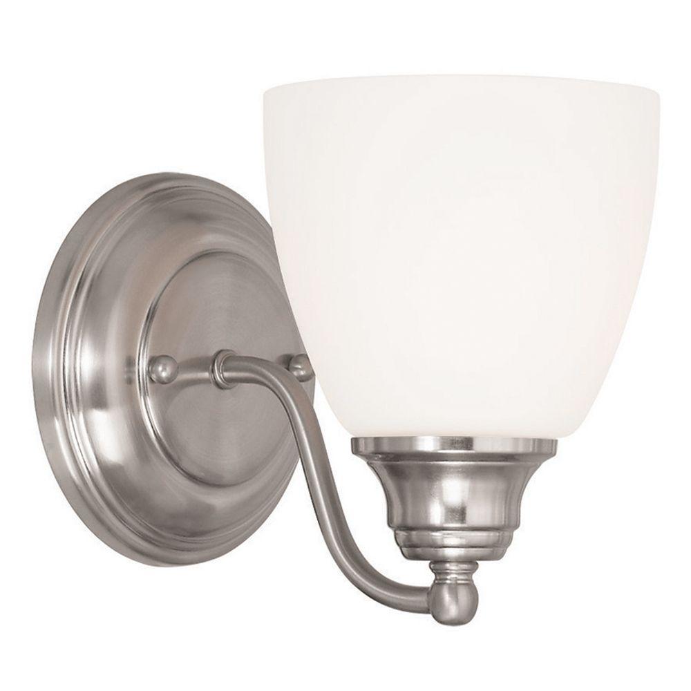 Livex Lighting Somerville Brushed Nickel Sconce 13671 91