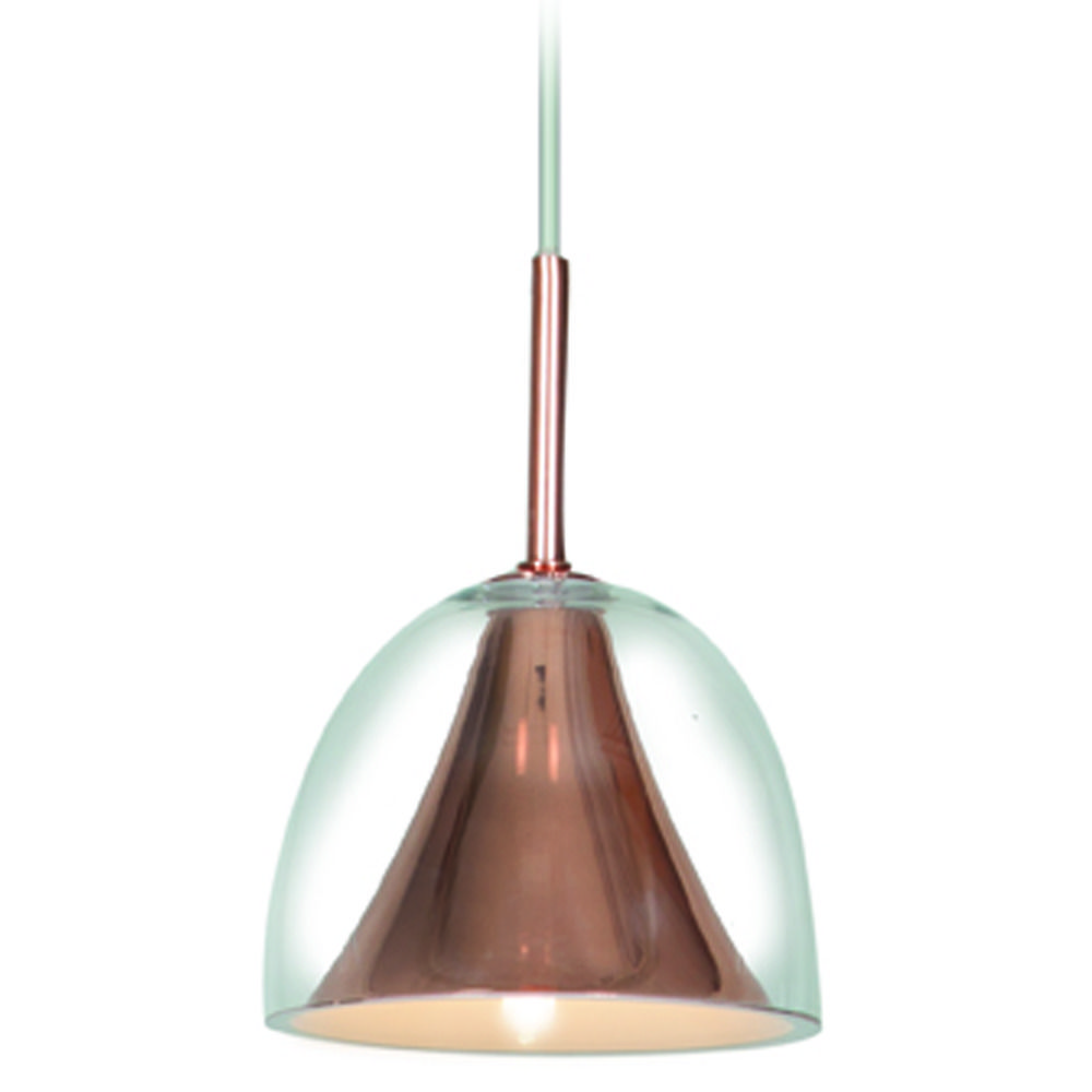 Access Lighting Metalico Rose Gold Mini-Pendant Light With