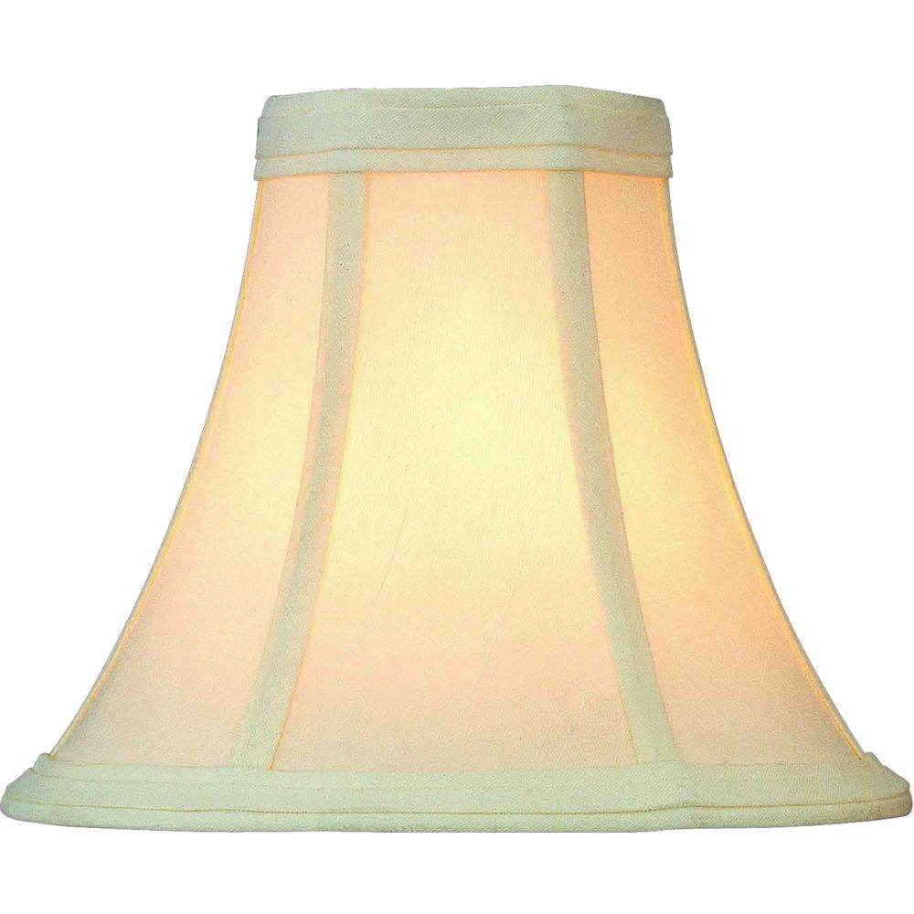 Cleveland Vintage Lighting Clip On Lampshade: Antique Eggshell Bell Lamp Shade With Clip-On Assembly