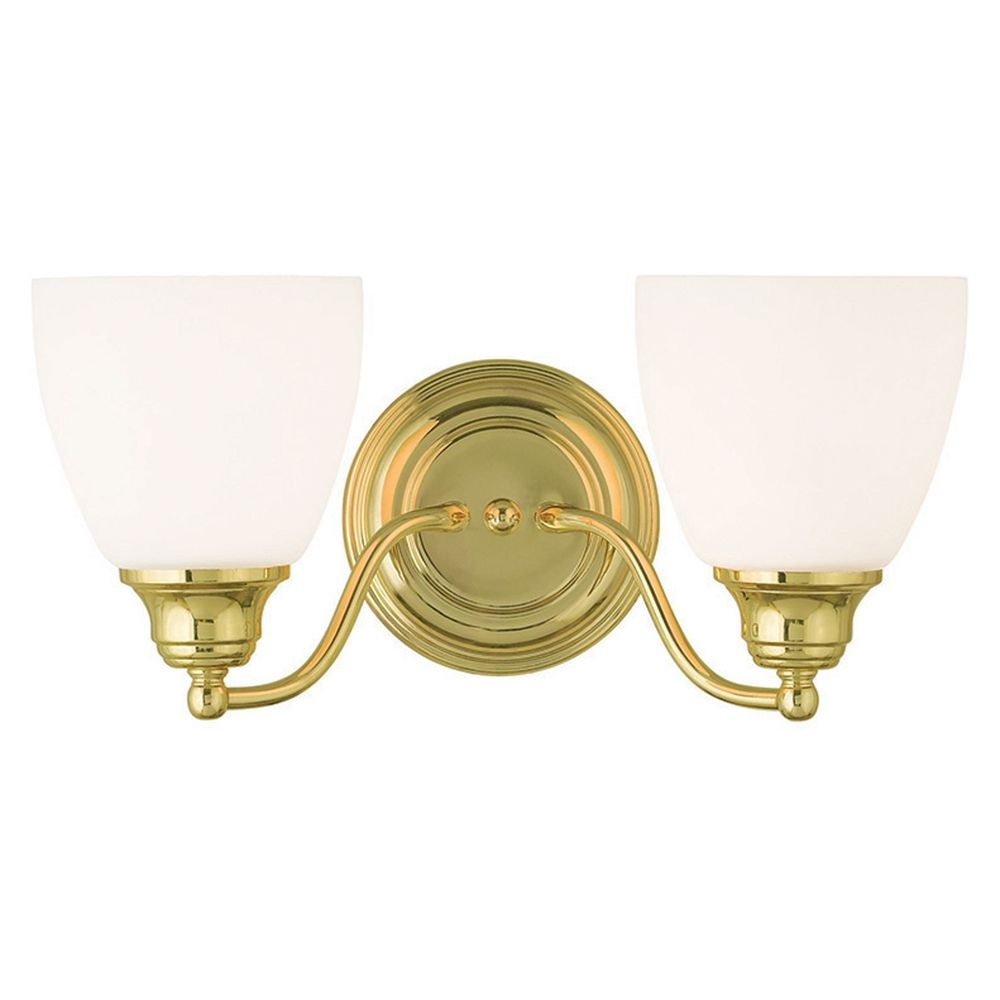 Livex Lighting Somerville Polished Brass Bathroom Light | 13672-02 ...