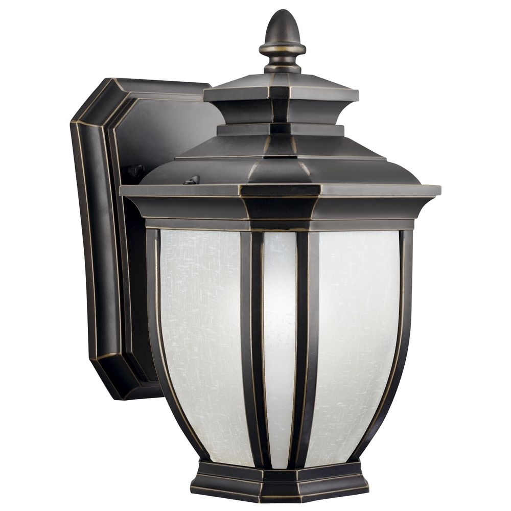 kichler 10 1 2 inch outdoor wall light 9039rz. Black Bedroom Furniture Sets. Home Design Ideas