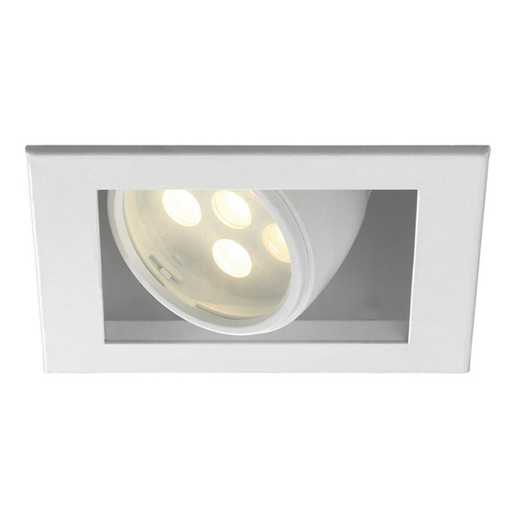 Wac Lighting 6 Square LED Recessed Trim MT LED118F 27HS WT Destinat
