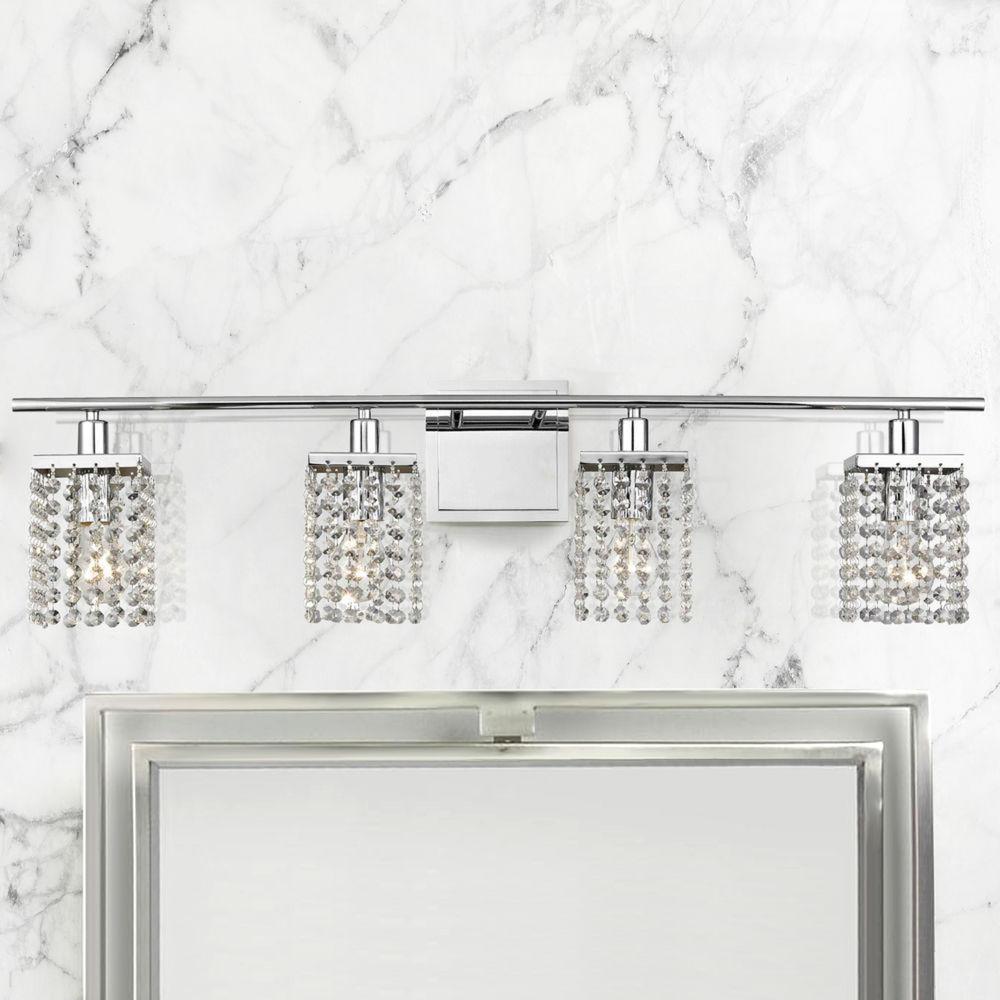 4 Light Crystal Bathroom Vanity Light 2277 26 Destination Lighting