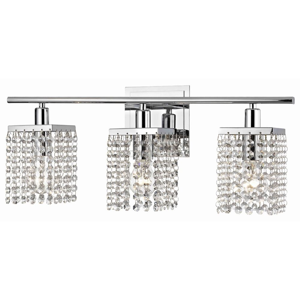 Bathroom Vanity Lighting Crystal 3-light crystal bathroom vanity light | 2276-26 | destination lighting