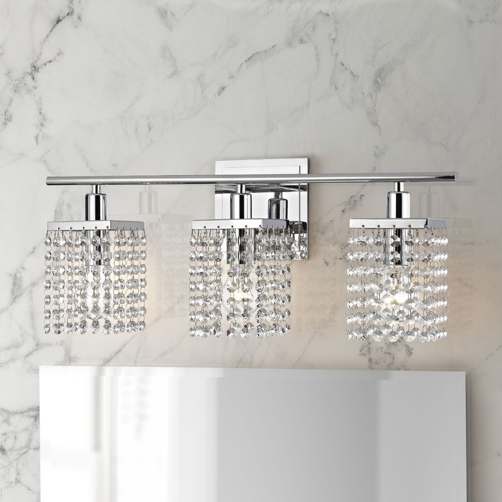 3 Light Crystal Bathroom Vanity