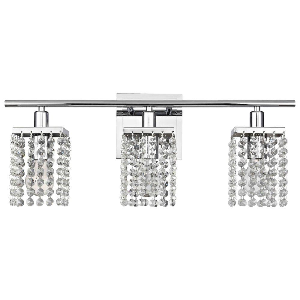 3 Light Crystal Bathroom Vanity Light 2276 26 Destination Lighting