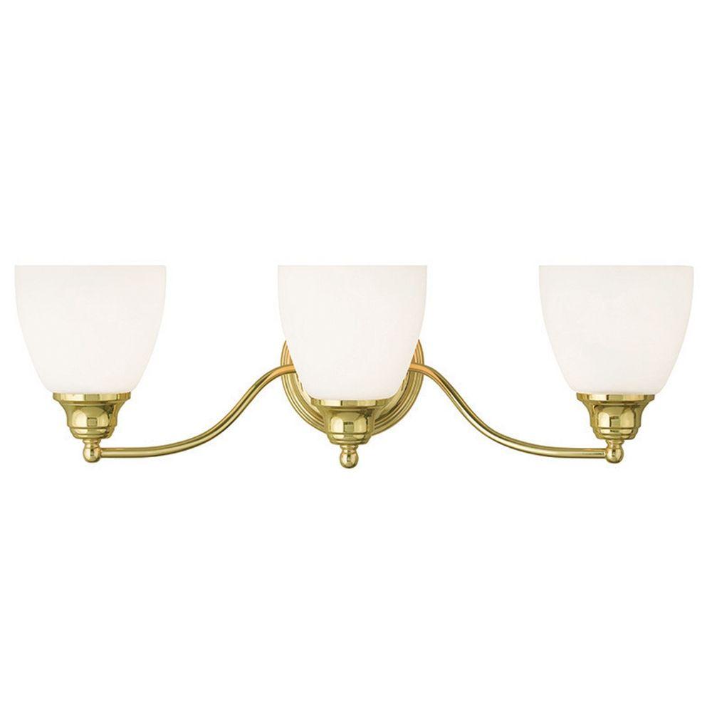 Livex Lighting Somerville Polished Brass Bathroom Light | 13673-02 ...