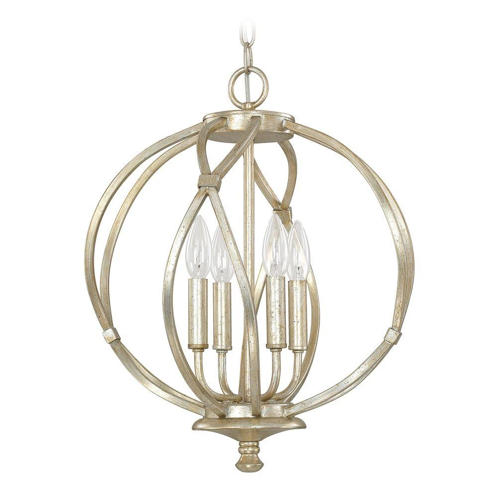 capital lighting bailey winter gold pendant light 4723wg
