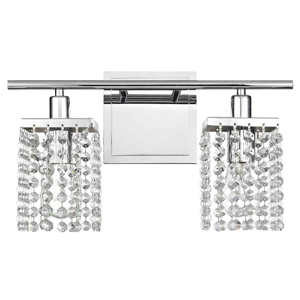 2-Light Crystal Bathroom Vanity Light 2275-26 Destination Lighting