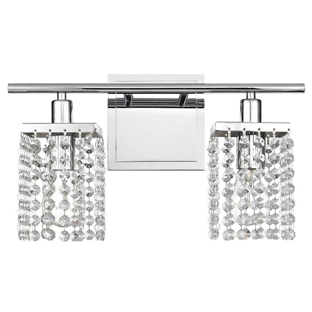 2-Light Crystal Bathroom Vanity Light | 2275-26 | Destination Lighting