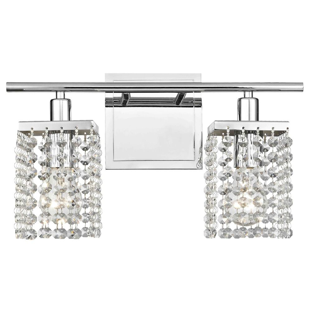 Bathroom Vanity Lighting Crystal 2-light crystal bathroom vanity light | 2275-26 | destination lighting