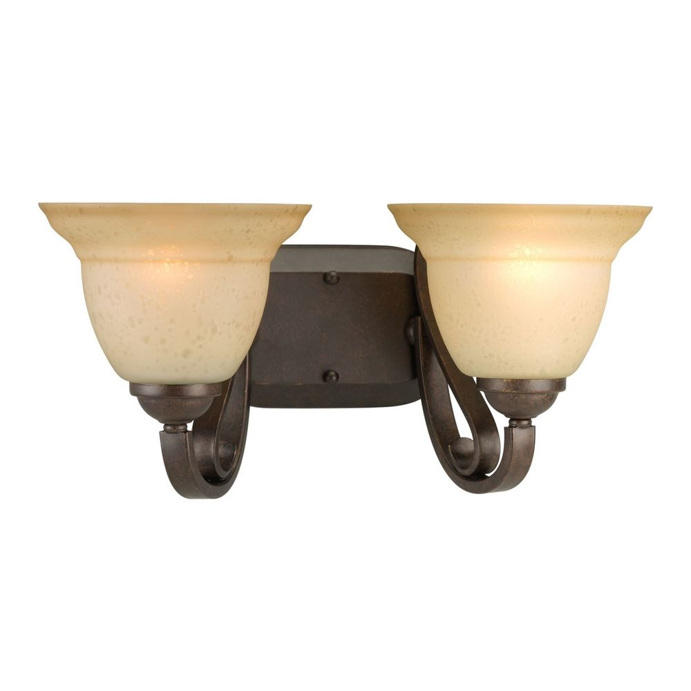 Luxury  Lighting Bathroom Light With White Glass In Burnished Brass Finish