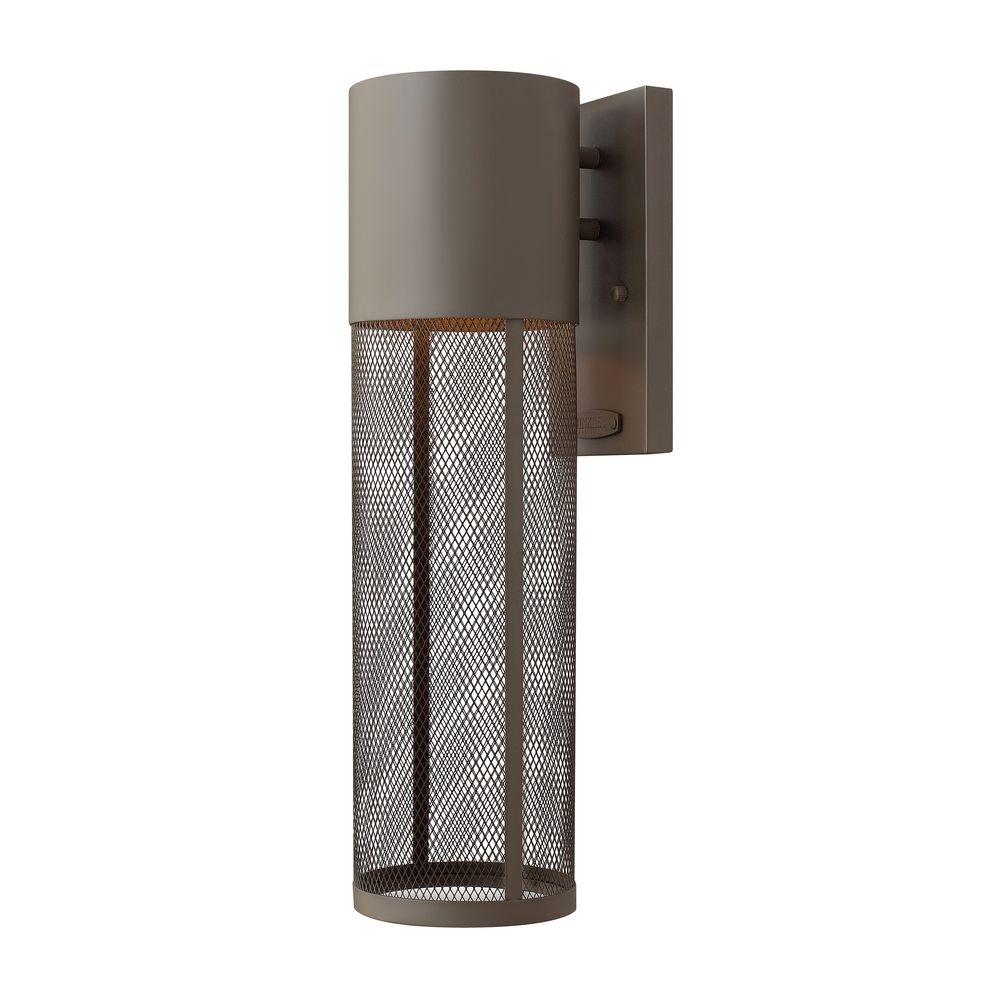 Modern LED Outdoor Wall Light in Buckeye Bronze Finish 2304KZ-LED Destination Lighting