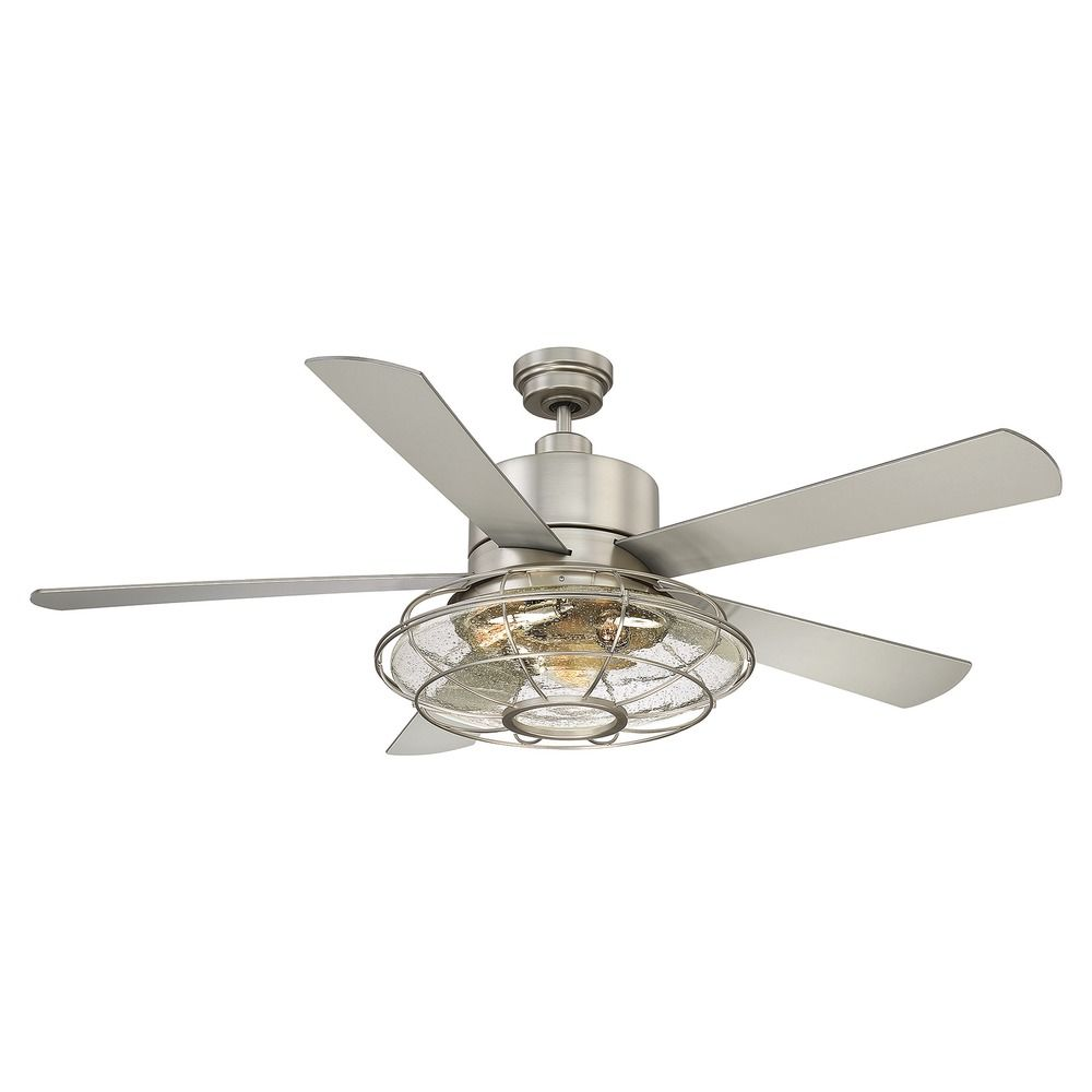 Savoy House Lighting Connell Satin Nickel Ceiling Fan With