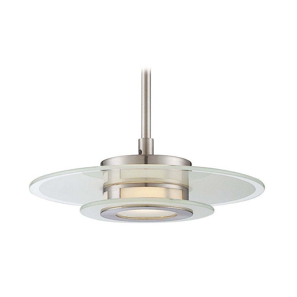 Lite Source Lighting Lexa Silver Led Mini Pendant Light