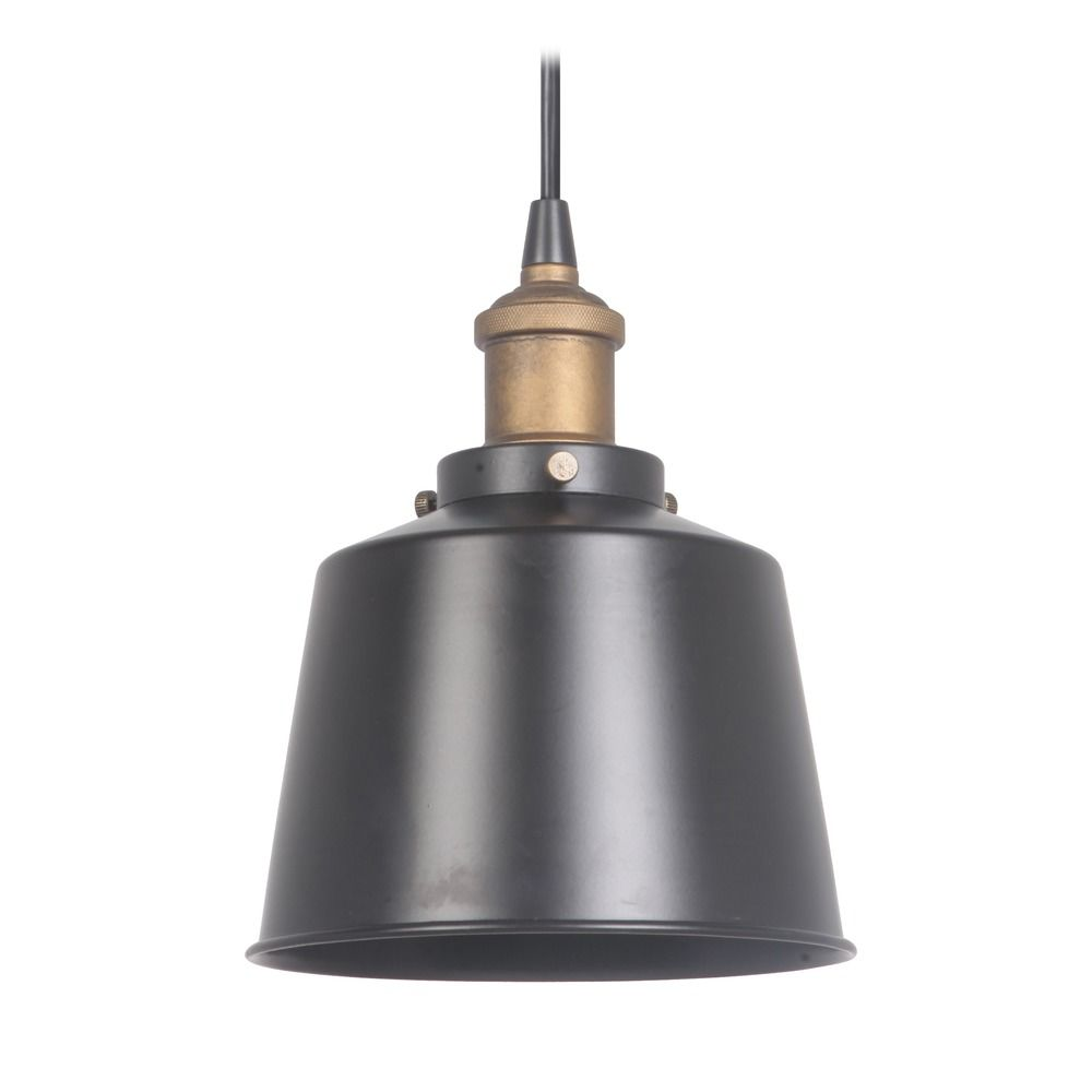 Mid century modern mini pendant light black brass by for Mid century modern hanging lamp