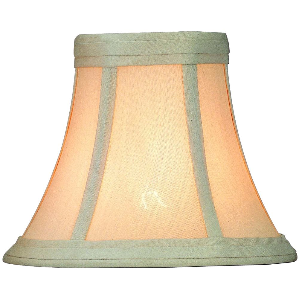 Metal Bell Lamp Shade: Linen Bell Lamp Shade With Clip-On Assembly