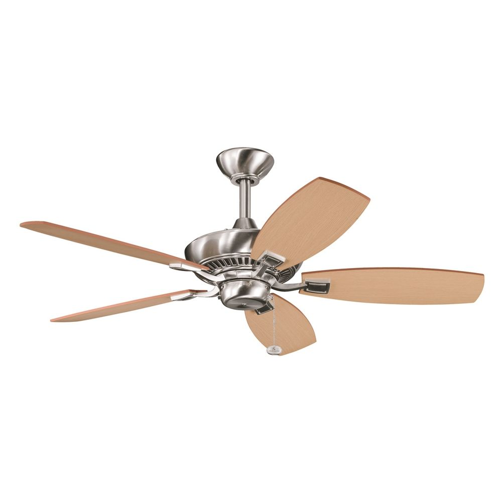Kichler Ceiling Fan Without Light in Brushed Stainless