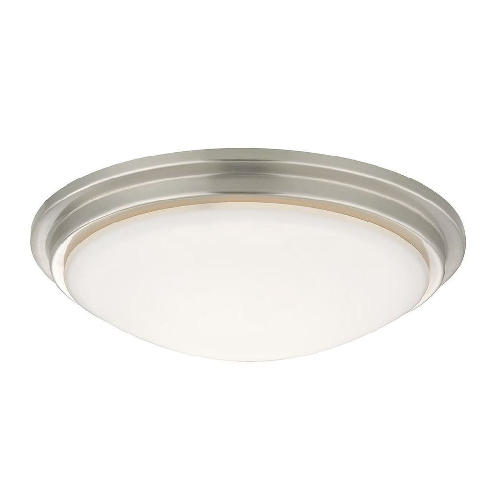 Low Profile Decorative Recessed Light Ceiling Trim With White Glass At Destination Lighting