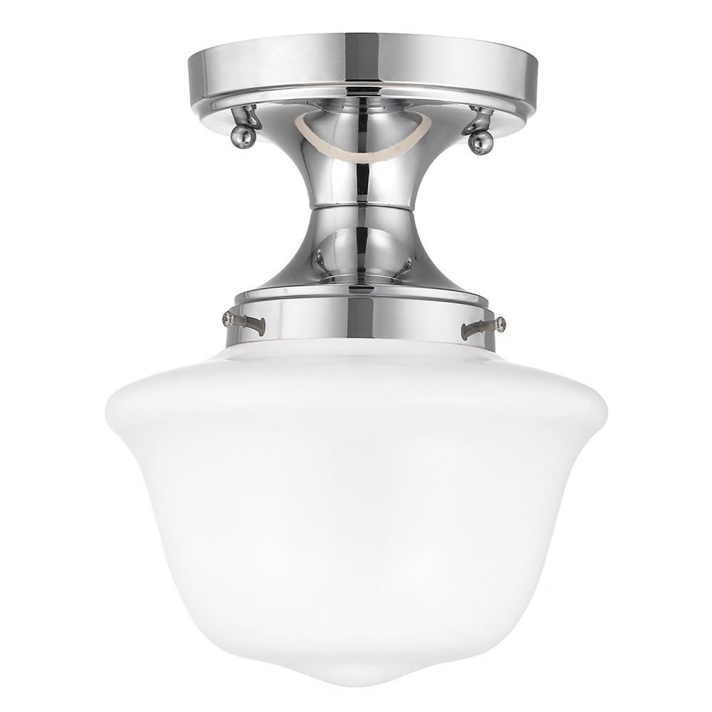 8 inch wide chrome schoolhouse ceiling light fds 26 gd8 product image mozeypictures Images