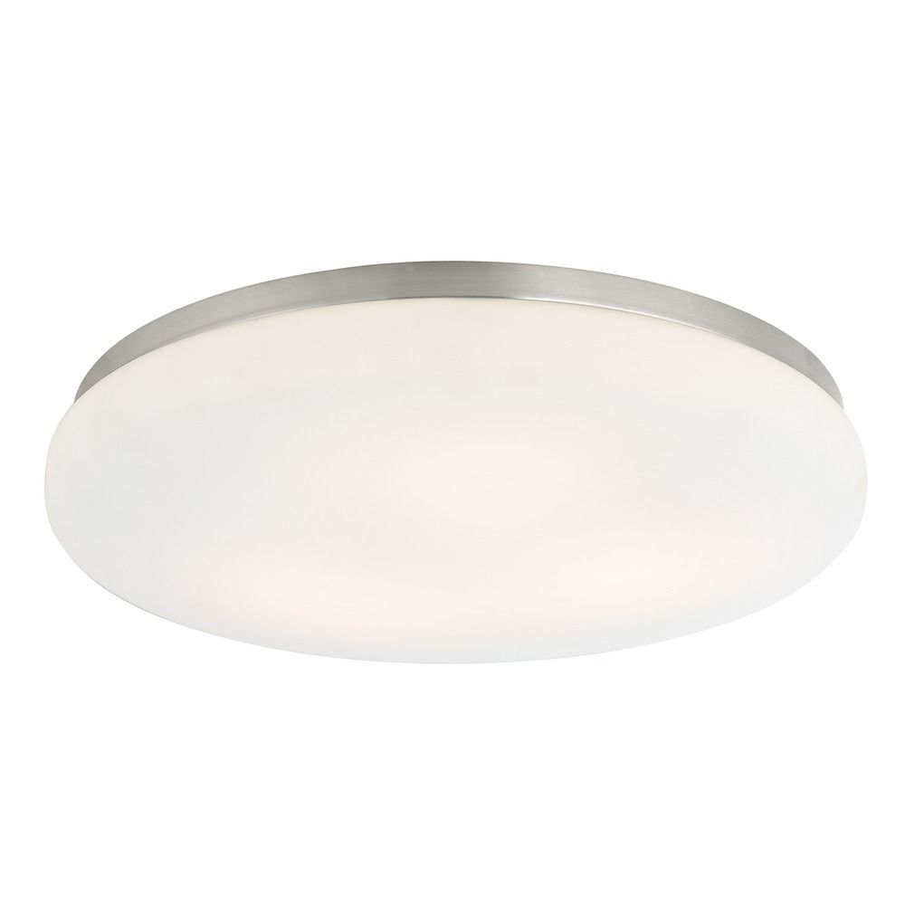 Low Profile Decorative Recessed Light Trim With Satin White Glass At Destination Lighting