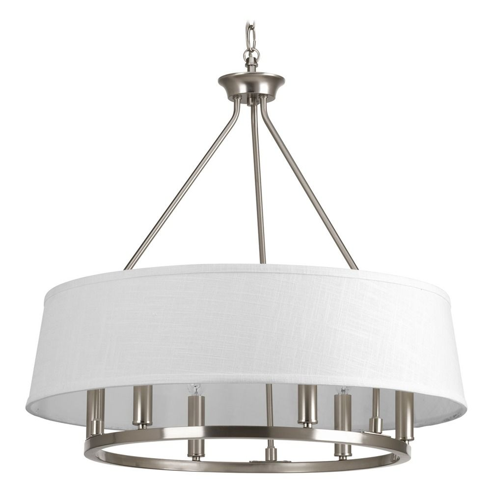 progress lighting cherish brushed nickel pendant light. Black Bedroom Furniture Sets. Home Design Ideas