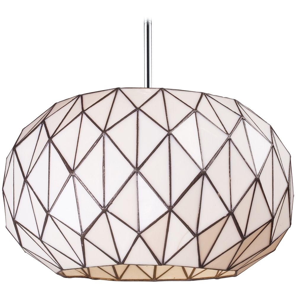 Pendant light with white glass in chrome finish 72022 3 pendant light with white glass in chrome finish by elk lighting aloadofball Image collections