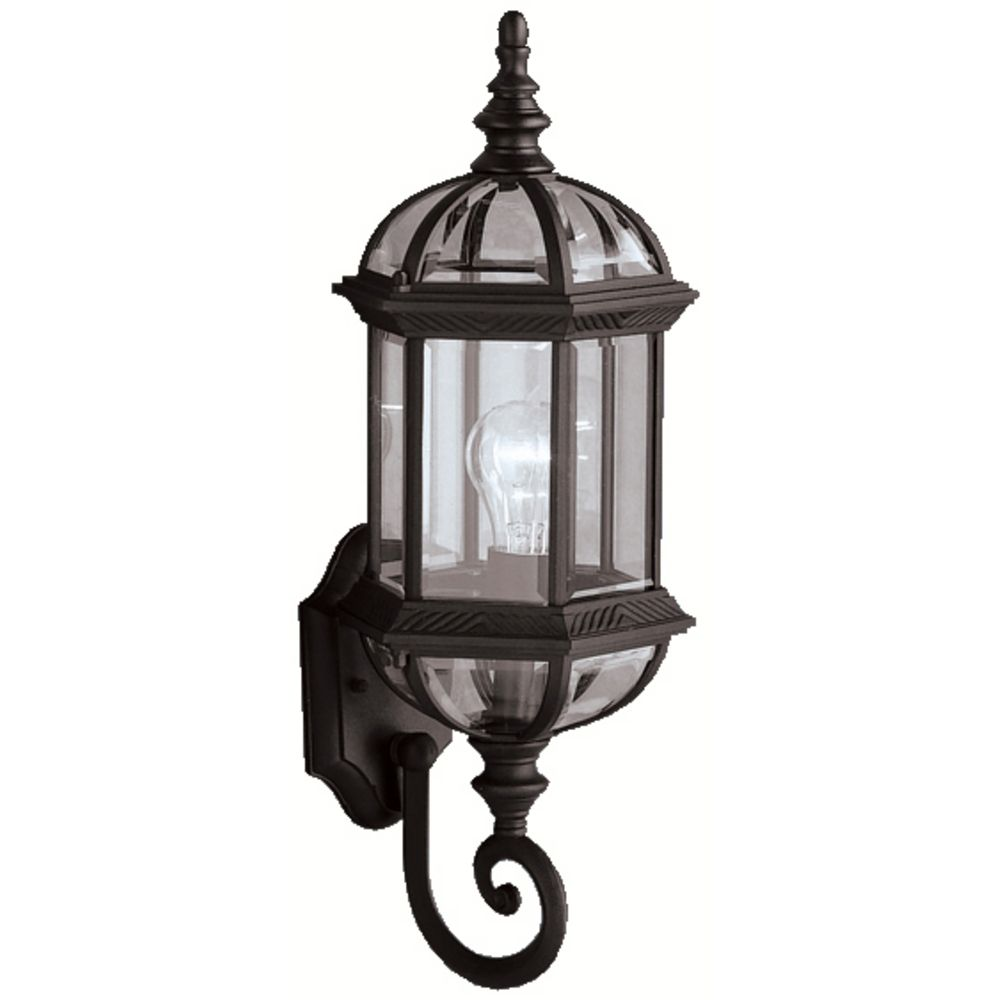 Kichler Outdoor Wall Light with Clear Glass in Black ...