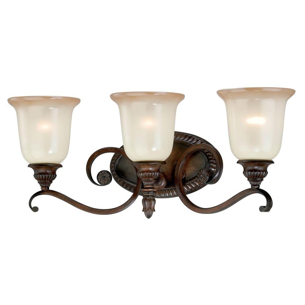 parkhurst aged walnut bathroom light by vaxcel lighting w012