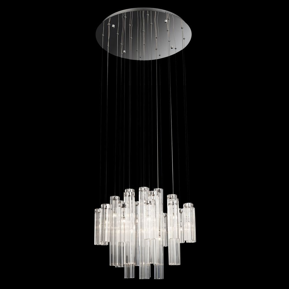 Low Voltage Light Fixtures: Modern Low Voltage Multi-Light Pendant Light With Clear
