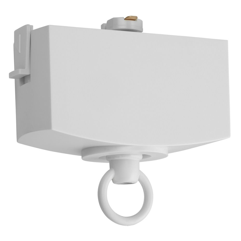 pendant light adapter for juno single circuit track t31 wh